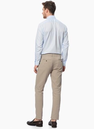 Network Uzun Kollu Slim Fit Klasik Gömlek Mavi